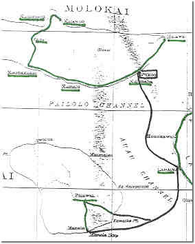 Molokai and Lanai mail routes