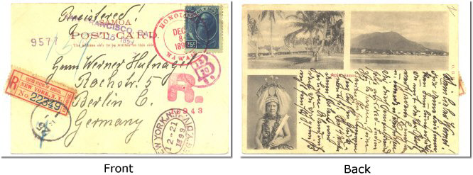 registered Samoa Post Card