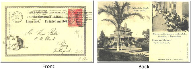 Hawaii scene UPU card