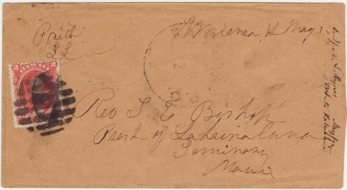 72 - May 1 ms postmark and Paid L.L