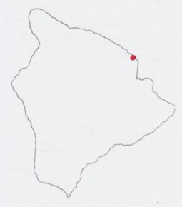 Honomu location