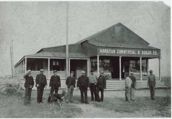 Old Photo Hawaiian Commercial Sugar Co Store