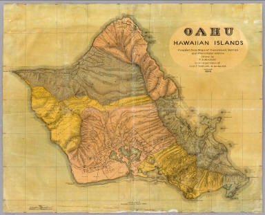 1899 Government Survey Map of Oahu