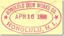 Honolulu Iron Works 16Apr96